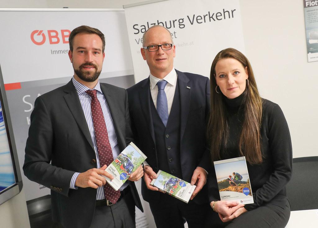 Pressekonferenz Salzburger Verkehrsverbund zum Fahrplanwechsel, im Bild: LR Stef..