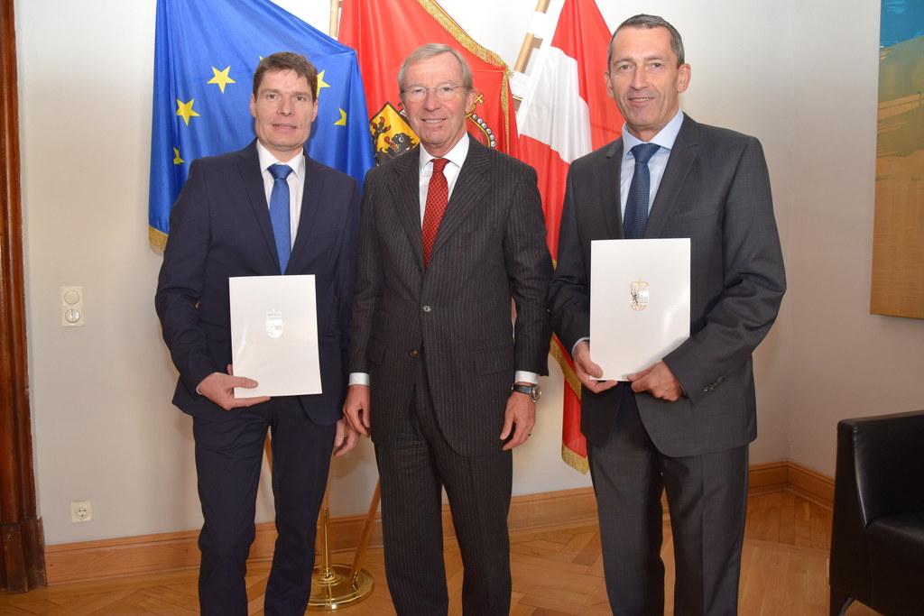 Zwei neue Abteilungsleiter sind bestellt: Franz Moser (l.) und Manfred Huber (r...