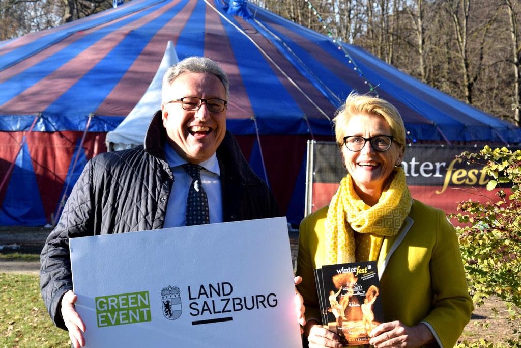 Das Winterfest ist ein Green-Event: LH-Stv. Heinrich Schellhorn und Susanne Tief..