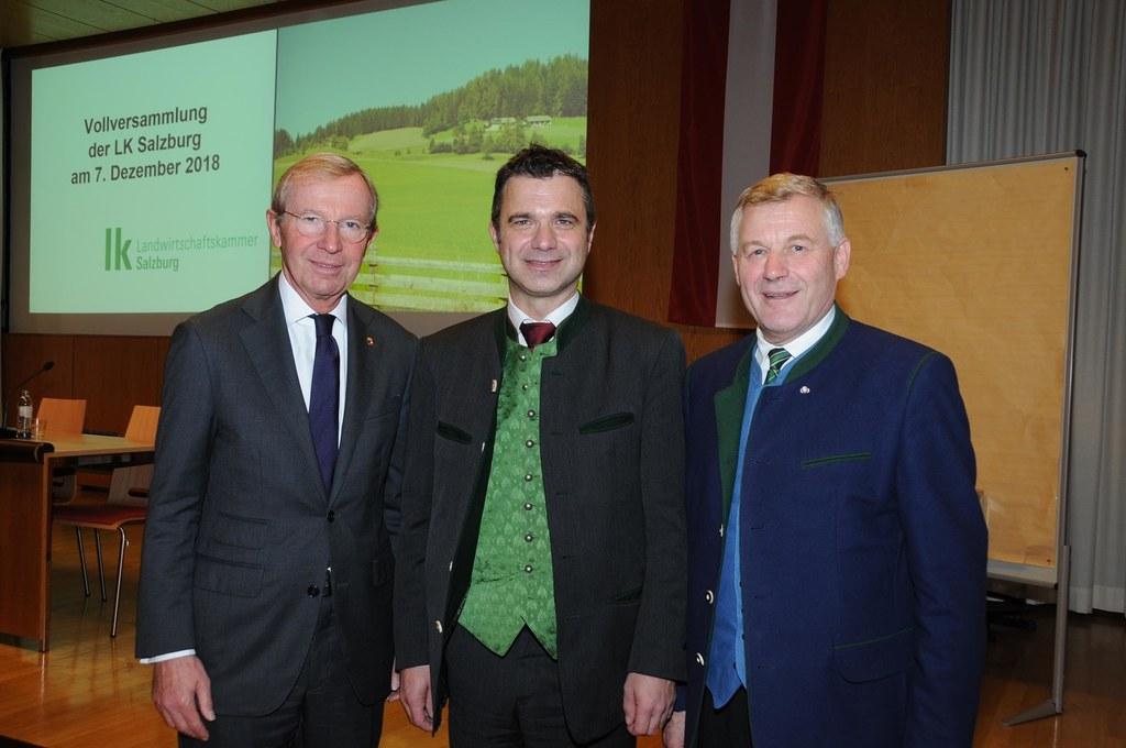 Landeshauptmann Wilfried Haslauer gratulierte dem neuen Präsidenten der Salzburg..