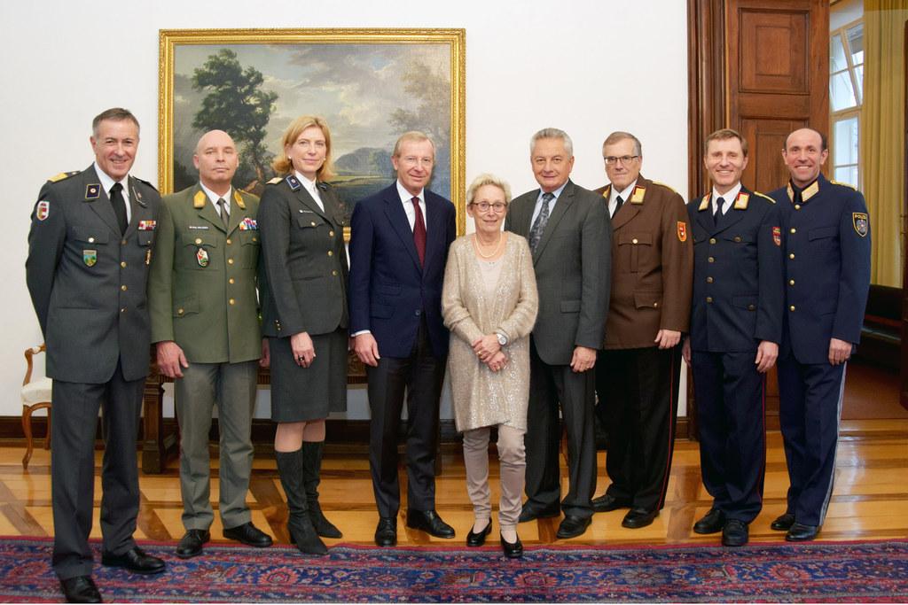 Die Spitzen der Sicherheitsbehörden und Einsatzorganisationen zu Besuch im Chiem..