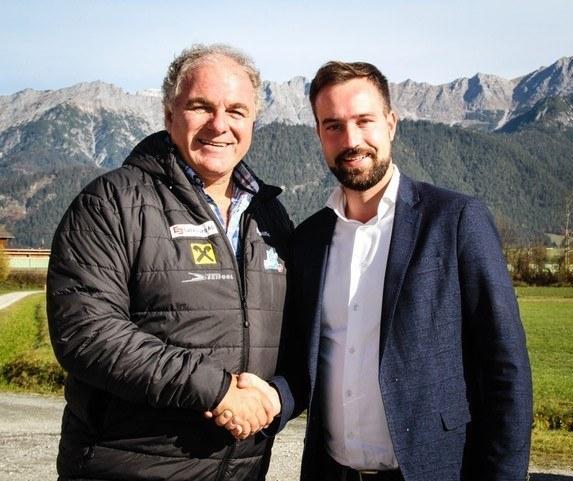 LR Stefan Schnöll und Skipräsident Bartl Gensbichler schafften den Doppel-Deal.