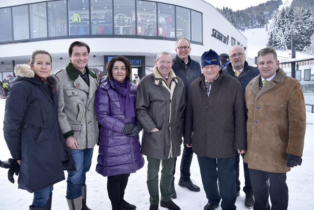 Eröffnung des Silverjet aufs Aineck in St. Margarethen im Lungau: Denise und Jos..