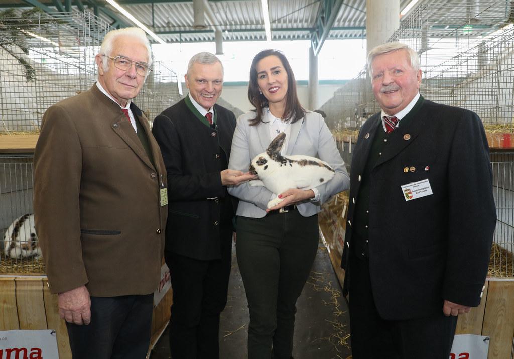 Eröffnung der Internationalen Kleintierlandesschau im Messezentrum Salzburg, im ..