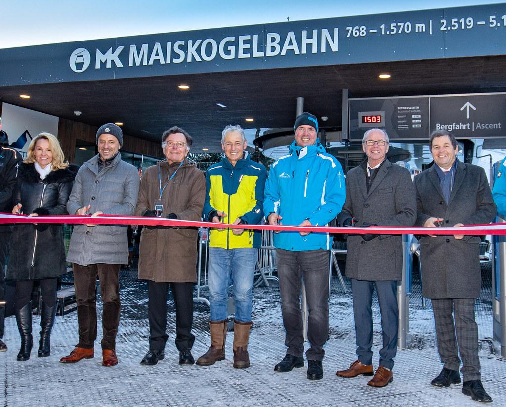 Sie ließen sich die Eröffnung der Maiskogelbahn in Kaprun nicht entgehen: Renate..