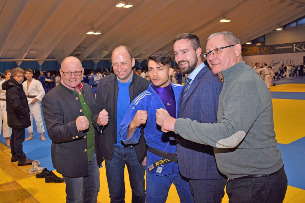Die Judo-Weltelite trainiert derzeit in Mittersill. Vize-Bgm. Volker Kalcher, Ro..