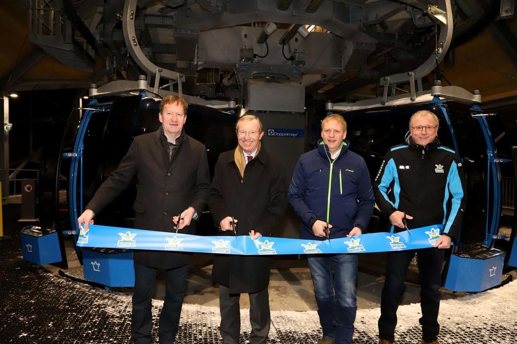 Eröffnung der Sonnbergbahn in Maria Alm, im Bild: Alois Gadenstätter (Aufsichtsr..