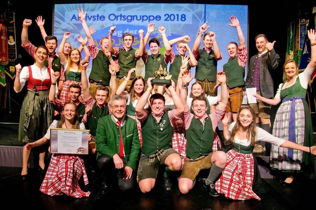 Die Saalfeldener Landjugend wurde als aktivste Gruppe des Landes von LR Josef Sc..
