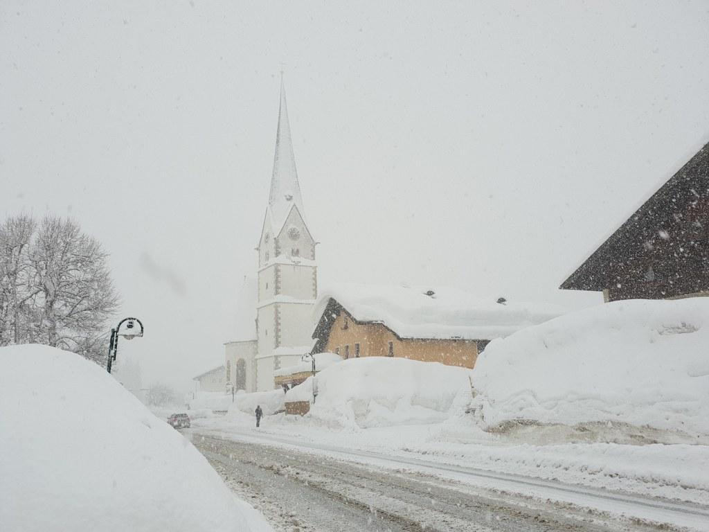 Die erste Jännerhälfte 2019 brachte im ganzen Land Schnee-Rekordmengen. Hier ver..