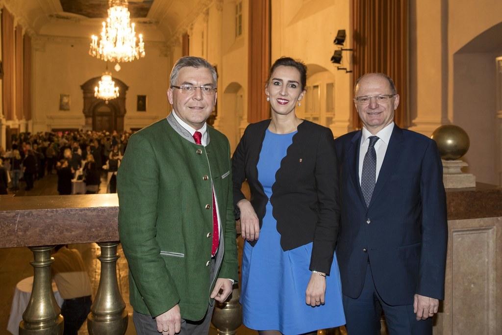 Empfang für pensionierte und neue Bundes- und Landeslehrer, im Bild: LR Josef Sc..