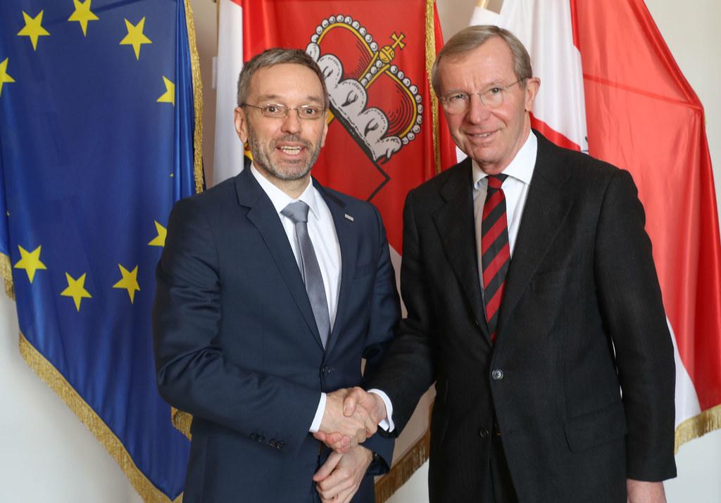 Innenminister Herbert Kickl war heute in Salzburg und traf Landeshauptmann Wilfr..