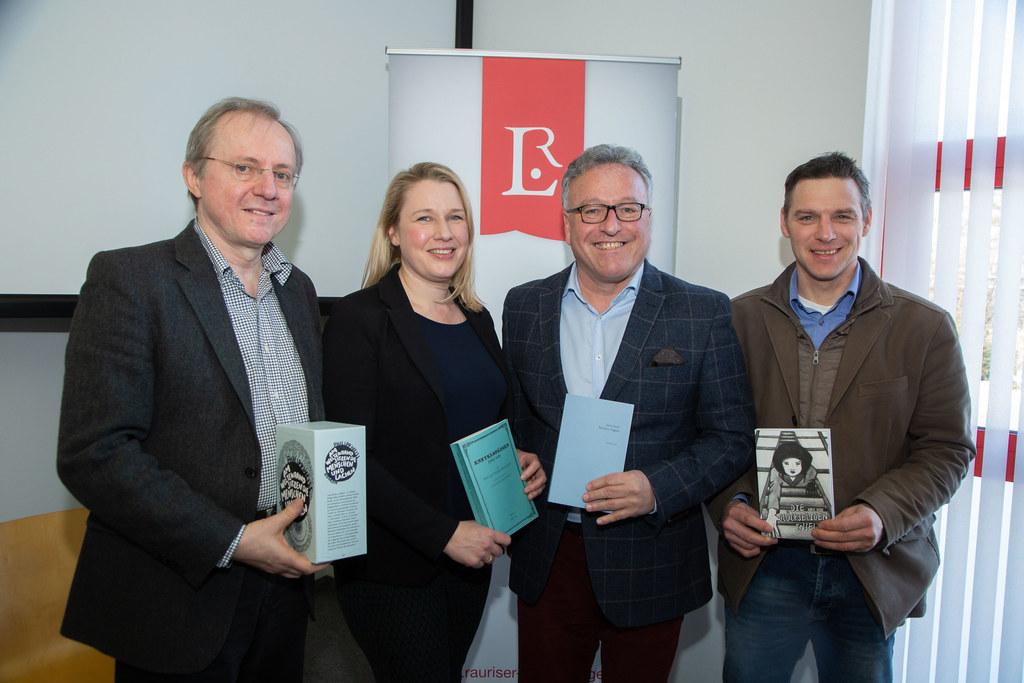 Manfred Mittermayer, Intendant, Ines Schütz, Intentdantin, LH-Stv. Heinrich Sche..