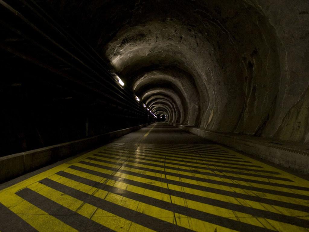 Tief im Inneren des Heukarecks führen Stollengänge zum Ausfallspeicher für EU-Fa..