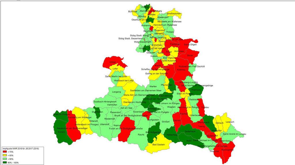 Beim Schutz gegen Masern gibt es große regionale Unterschiede.