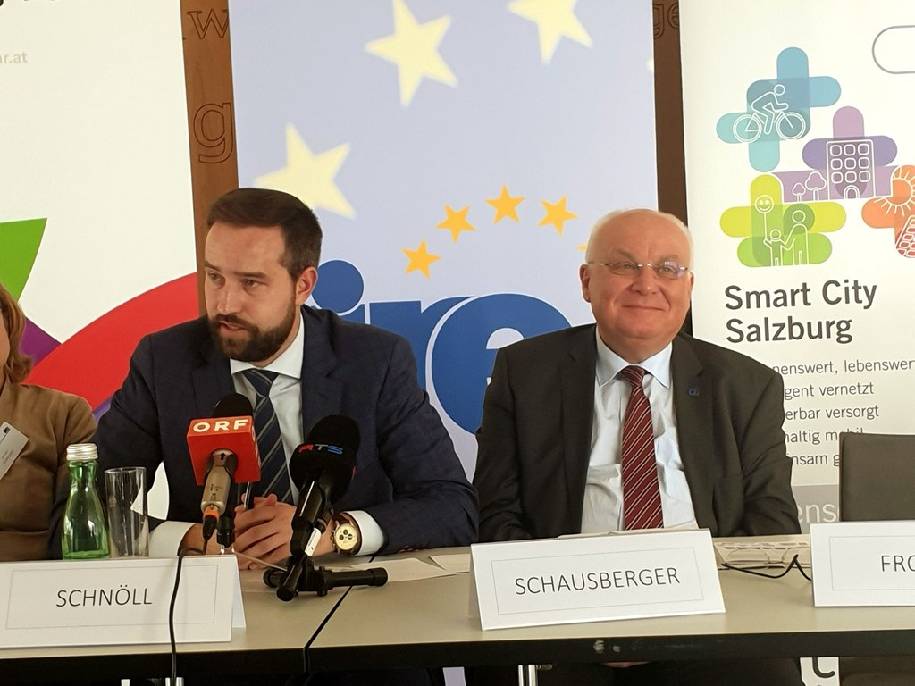 LR Stefan Schnöll und Franz Schausberger bei der IRE-Expertenkonferenz