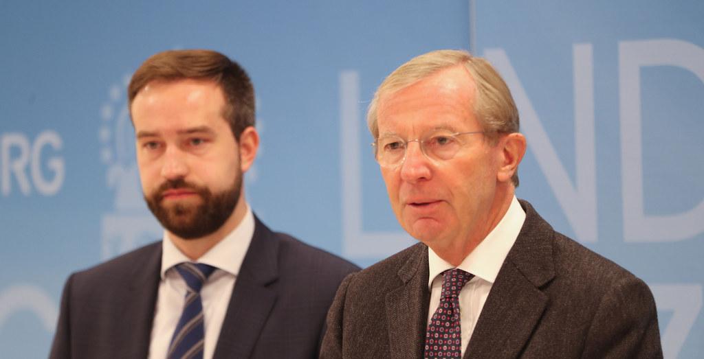 LH Wilfried Haslauer (re.) und LR Stefan Schnöll setzen sich in Berlin für eine ..