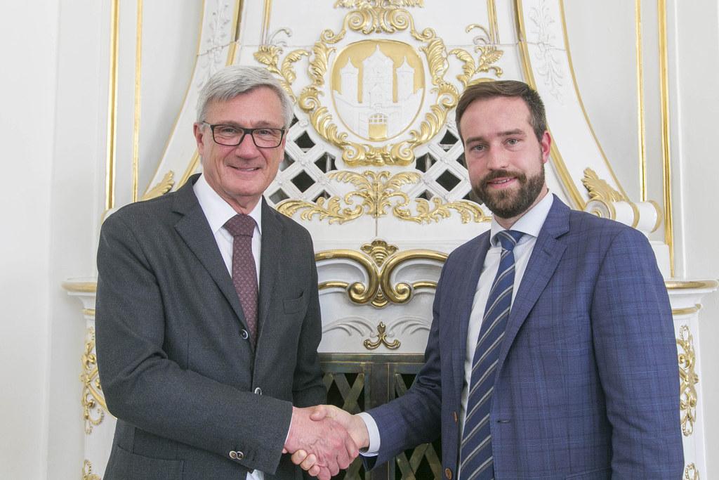 LR Stefan Schnöll (Land Salzburg) und Bürgermeister Harald Preuner (Stadt Salzbu..