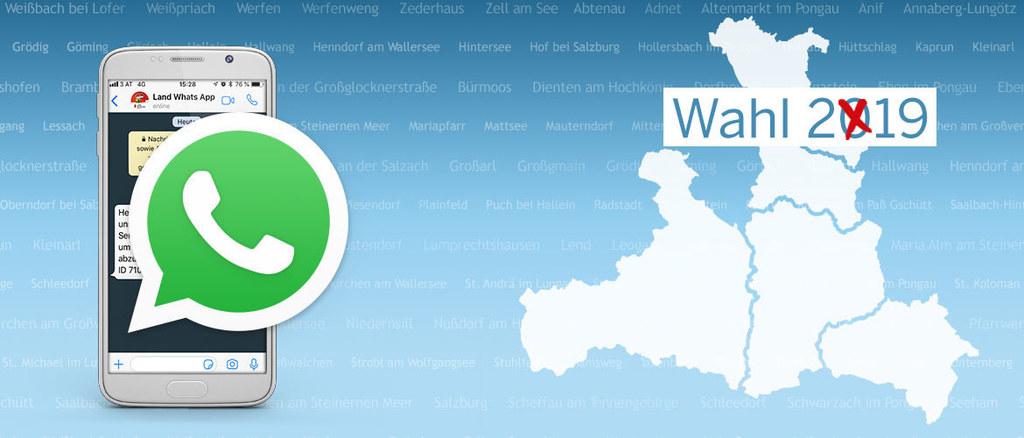Für alle Bürgerinnen und Bürger gibt es ab sofort den WhatsApp-Service Salzburg ..