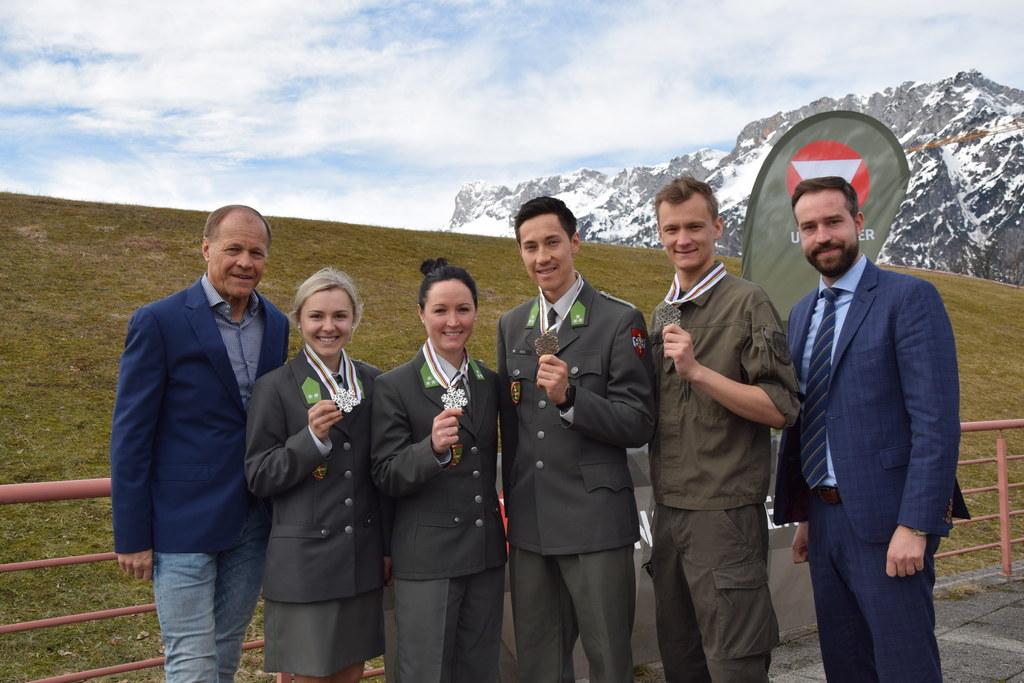 Salzburg ist stolz auf die Medaillengewinner der Nordischen Ski-WM in Seefeld. I..