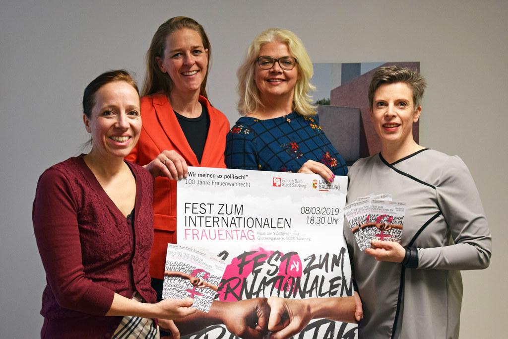 Gemeinsam für die Rechte der Frauen (v.l.): Karoline Brandauer (Referat Frauen, ..
