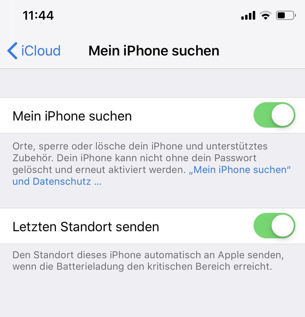 So aktiviert man die Ortungsfunktion beispielsweise am iPhone. Die Bergrettung h..