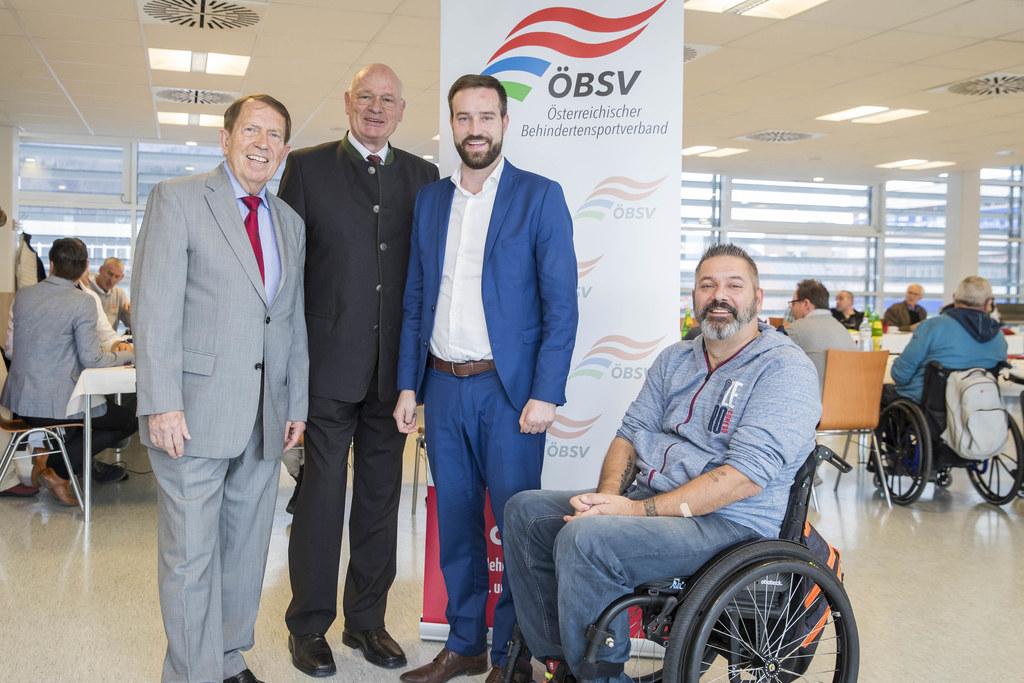 45 Jahre Behindertensporttage, im Bild: Obmann Roland Prucher, Heinz-Peter Böhmü..