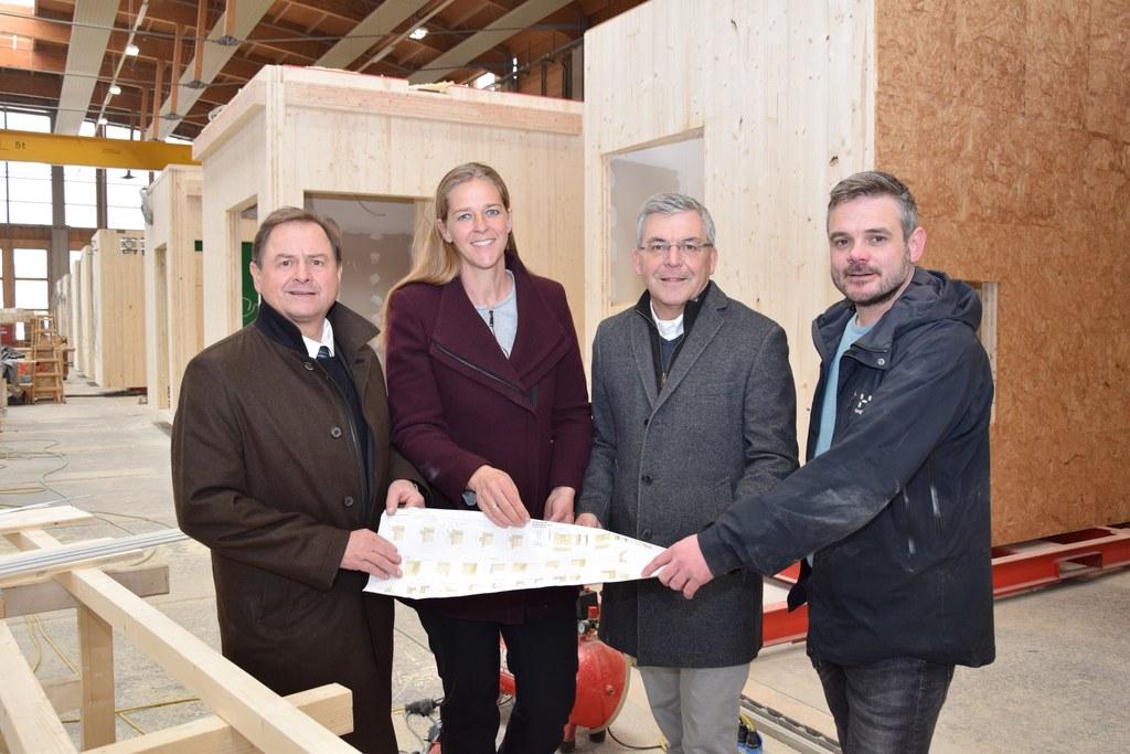 Im Werk von Josef Kaufmann hat die Holzbauproduktion der Zukunft schon begonnen...