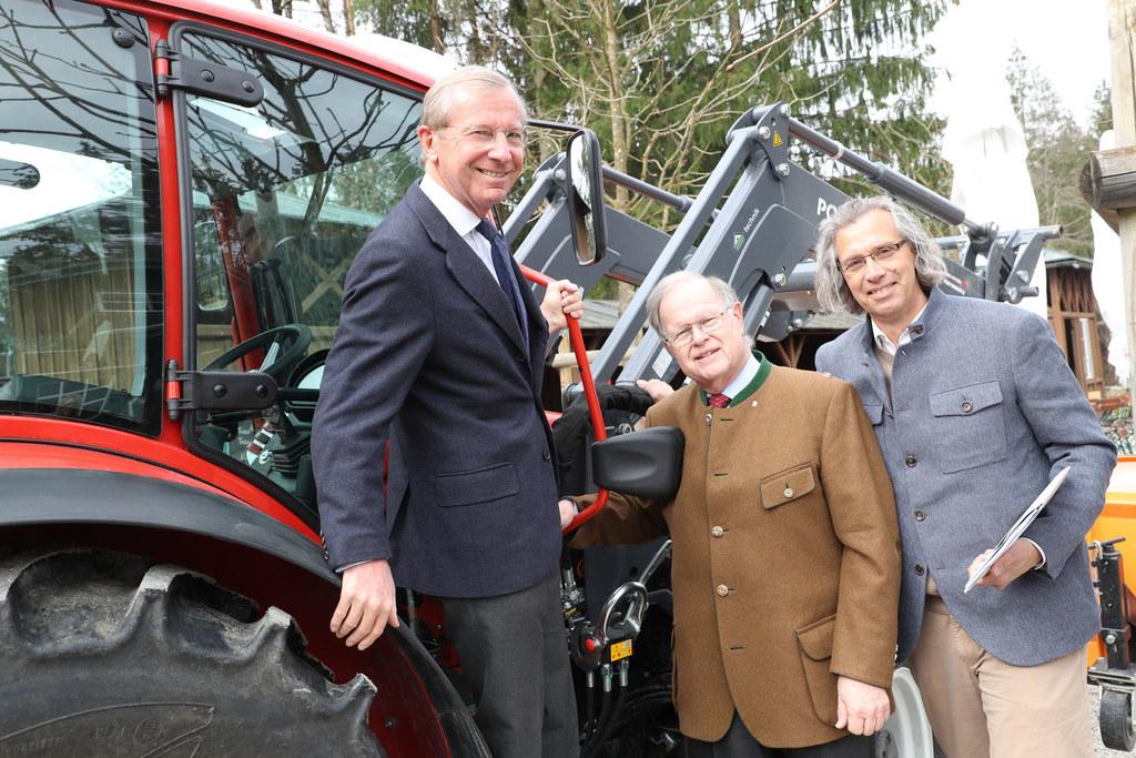 Das Freilichtmuseum freut sich über einen neuen Traktor, der vom Förderverein an..