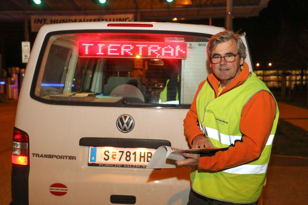 Manfred Pledl kontrolliert auf Salzburgs Autobahnen die Tiertransporte.
