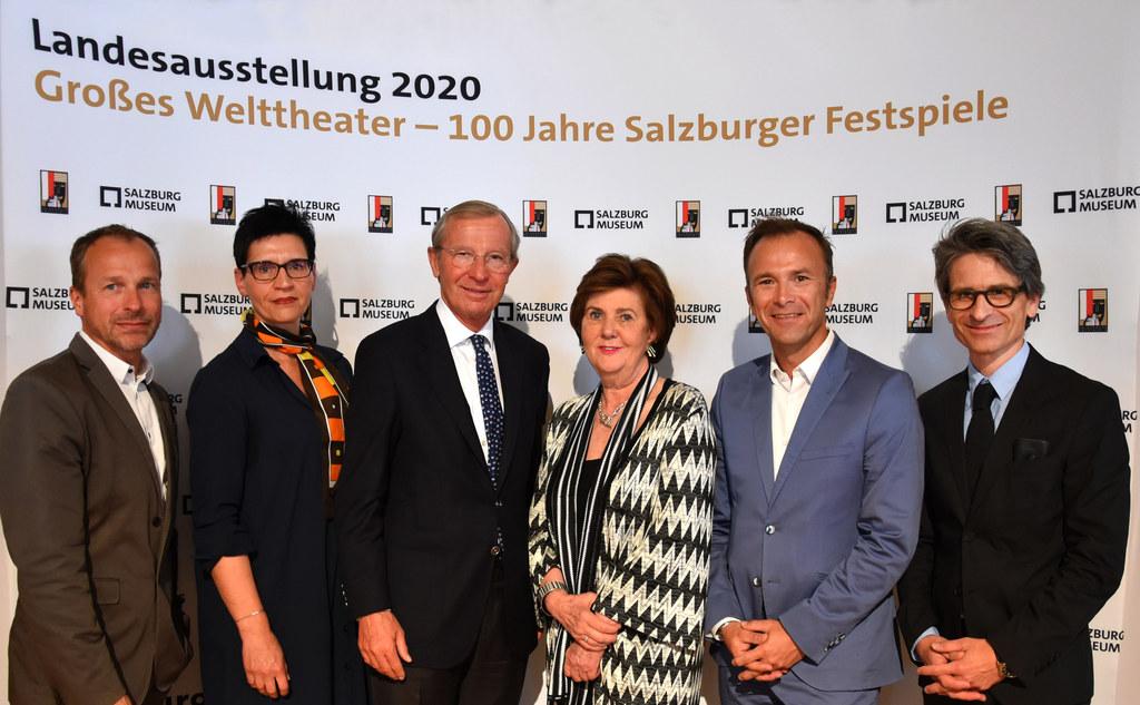 Landessausstellung 100 Jahre Festspiele: Peter Husty (Salzburg Museum), Margaret..