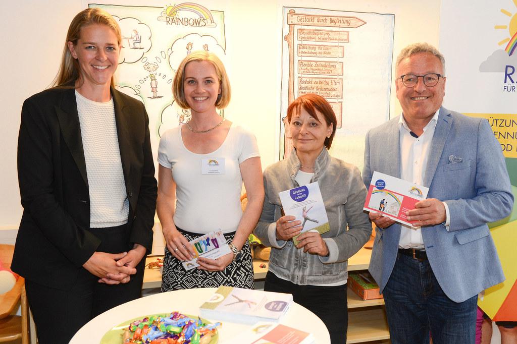 25 Jahre Verein Rainbows in Salzburg, im Bild: LR Andrea Klambauer, Eva Gitschth..
