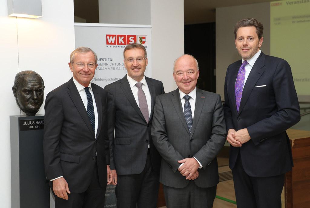 Wahl des neuen Präsidenten der Wirtschafskammer Salzburg: LH Wilfried Haslauer, ..