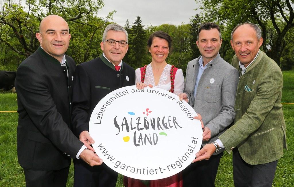 Präsentierten die neue Salzburger Herkunftsmarke: Gerald Reisecker (GF Salzburge..