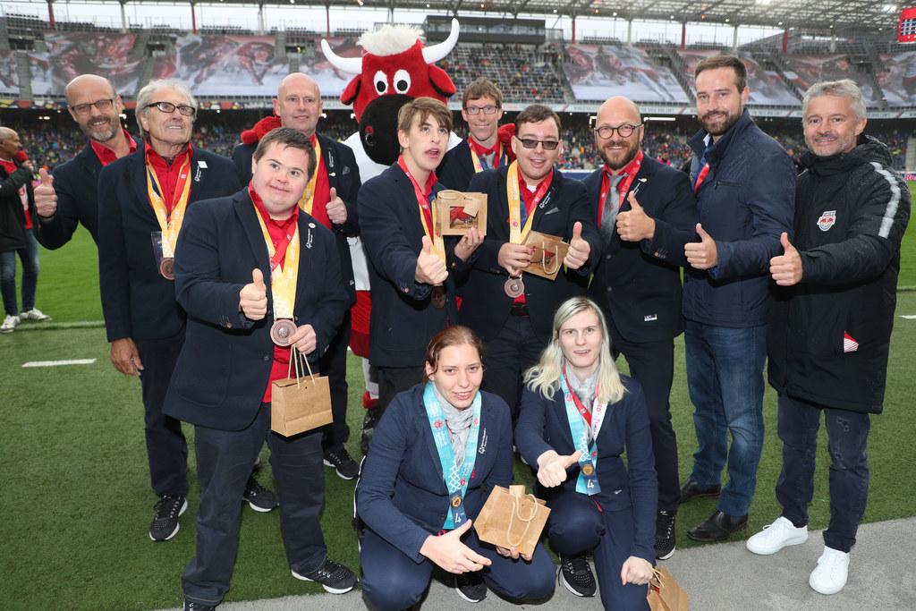 Salzburgs Teilnehmerinnen und Teilnehmer an den Special Olympics World Summer Ga..