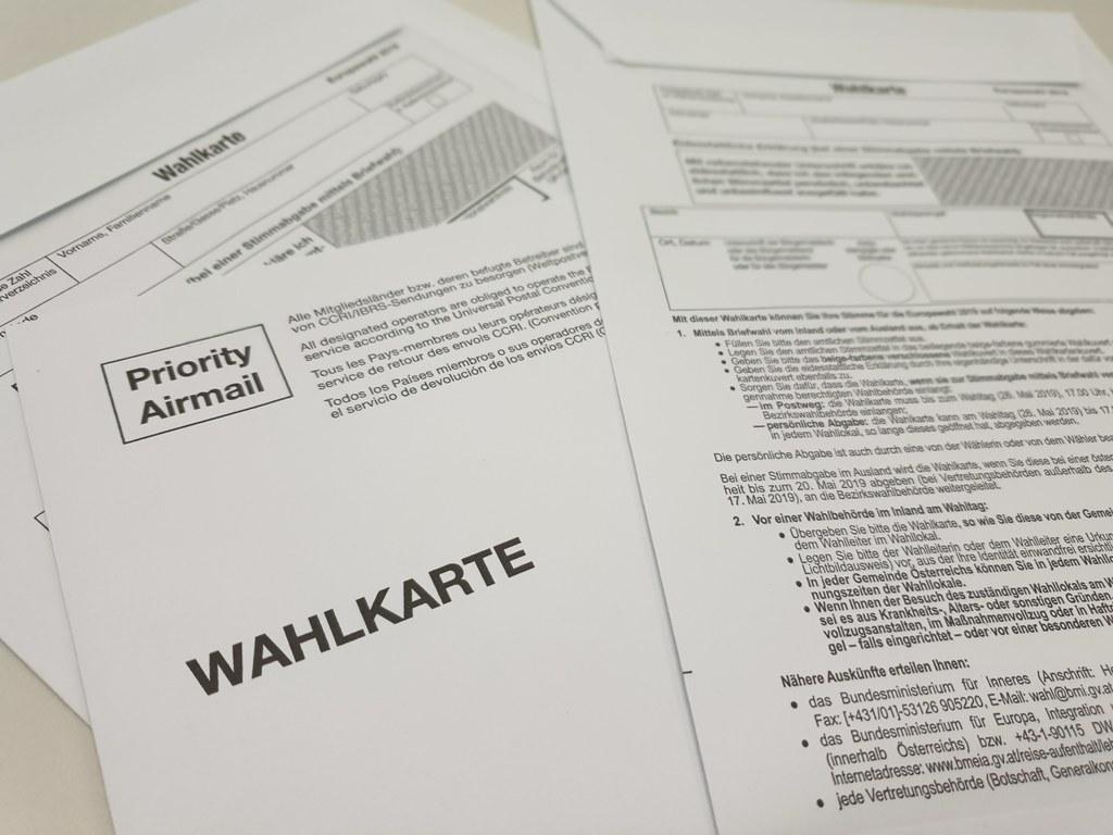 Wahlkarten sind bei der EU-Wahl am 26. Mai beliebt.