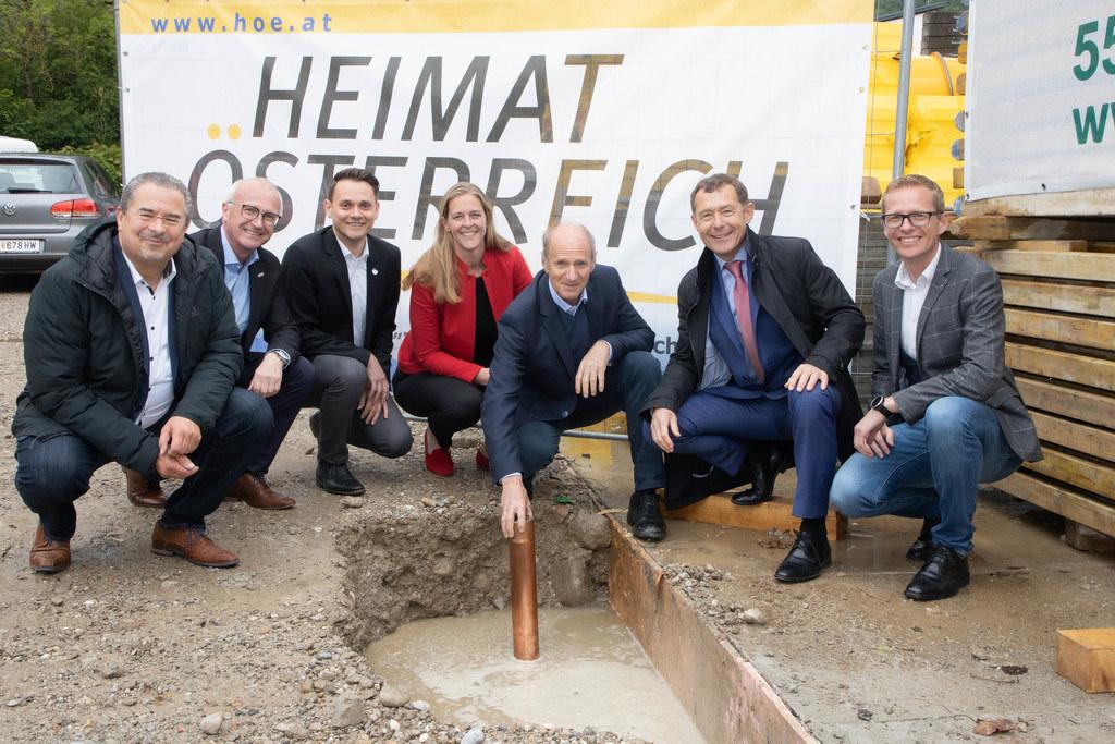 Stephan Gröger, Johannes Dines, Michael Schwarzmayr, LR Andrea Klambauer, Wilfri..