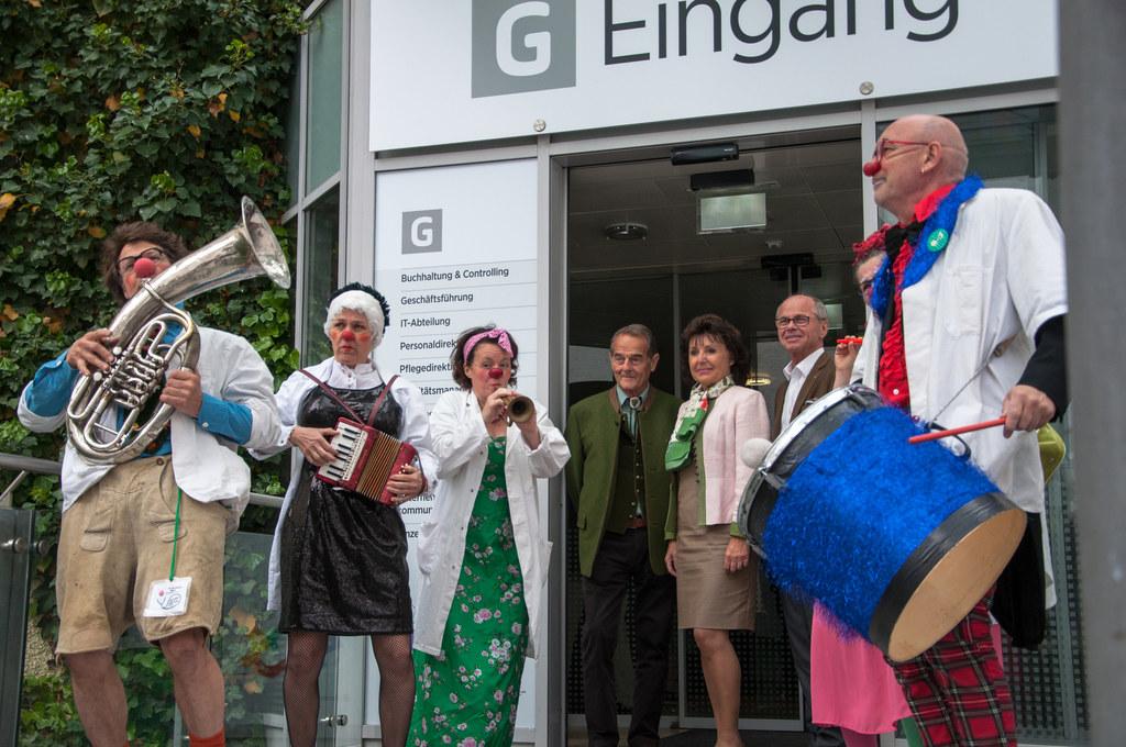LH-Stv. Christian Stöckl feierte mit den Clown Doctors das 25-Jahre-Jubiläum.
