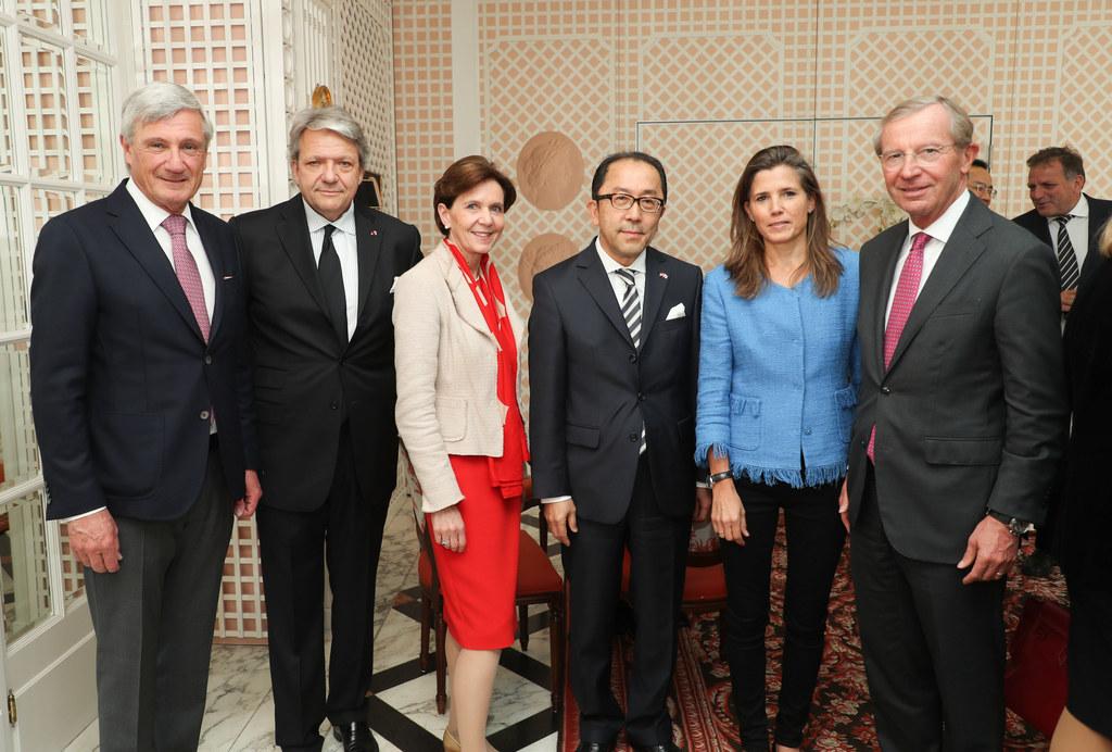 Feierten 150 Jahre Freundschaft zwischen Japan und Österreich: v.l. Bgm. Harald ..
