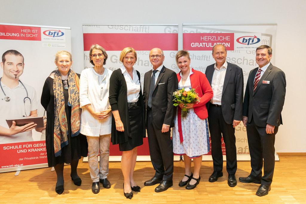 Abschlussfeier Pflegefachassistenz-Ausbildung: Ilse Kartnig, Leiterin der Schule..
