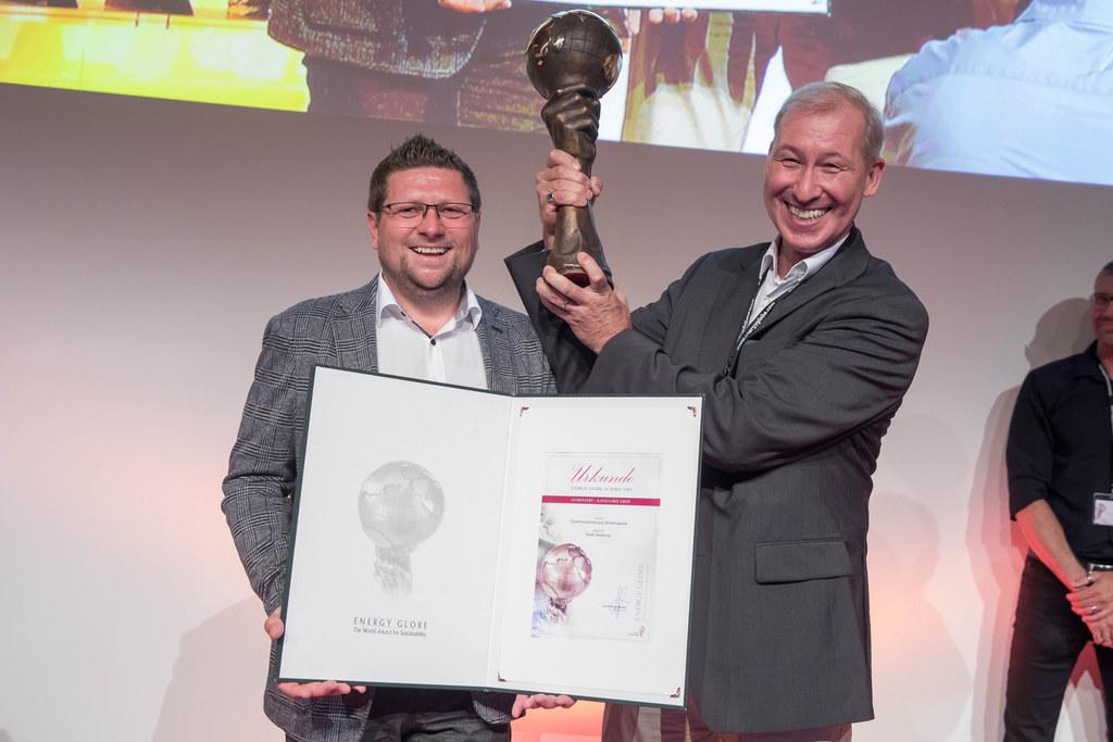 Verleihung der Energy Globes Austria, im Bild: Laudator Johann Amerstorfer (Kapl..