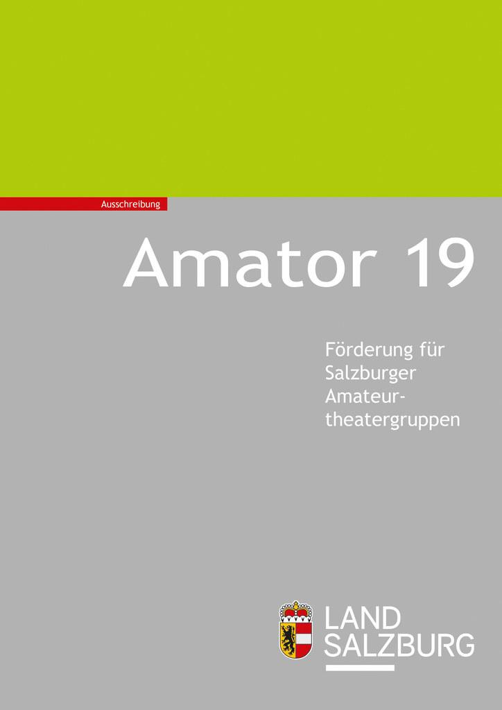 """Die zweite Ausschreibungsrunde für den """"Amator 2019"""" läuft bis 15. Juli."""