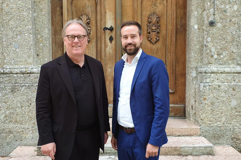 Mit FH-Rektor Gerhard Blechinger (li.) sprach LR Stefan Schnöll über ein künftig..