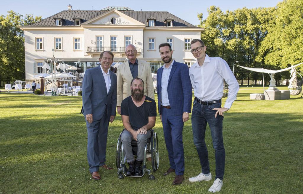 Feierten das Jubiläum: Roland Prucher (Obmann BSV), Peter Böhmüller (Präsident B..