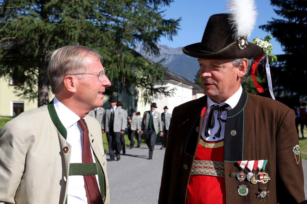 Die historischen Schützenkompanie Saalfelden feierten ihr 50-jähriges Bestehen. ..