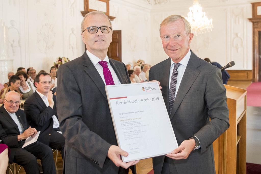 Preisverleihung René Marcic Preis 2019, im Bild: Preisträger Josef Bruckmoser un..