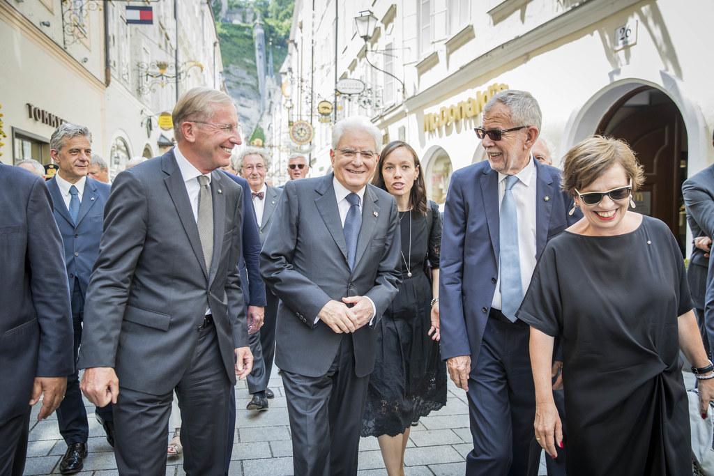 Ein Pflichttermin im Besuchsprogramm von Präsident Sergio Mattarella: Ein Spazie..