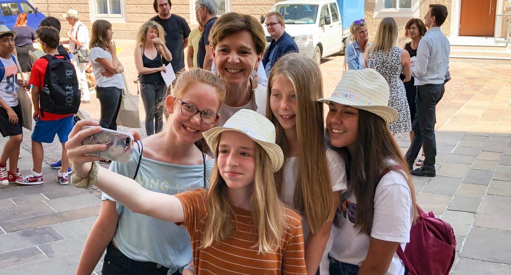 Ein Selfie mit Landtagspräsidentin Brigitta Pallauf.