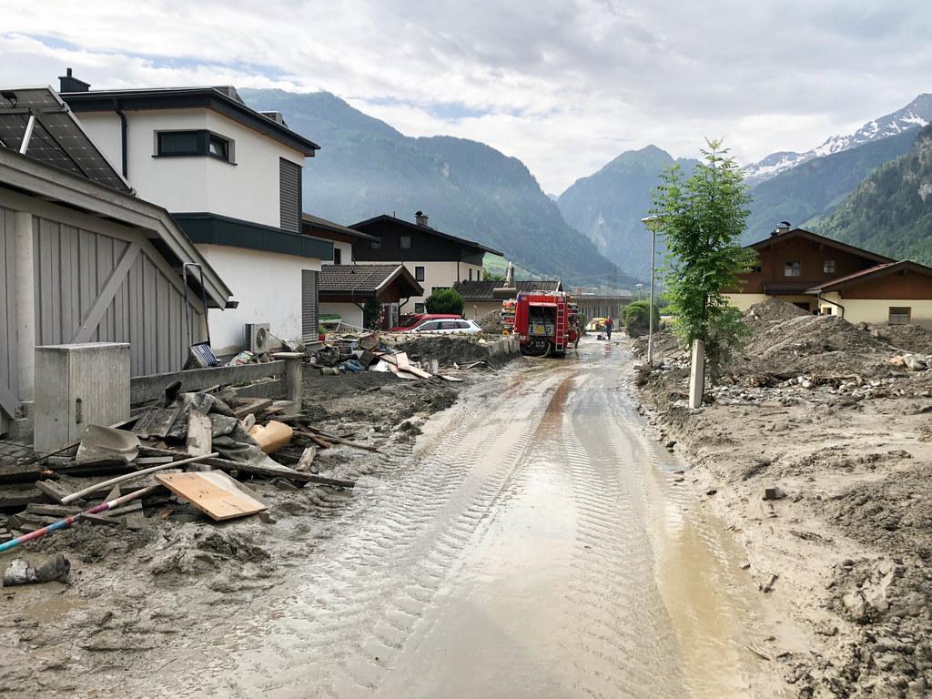 Im Juli 2019 verwüstete eine Mure Uttendorf.