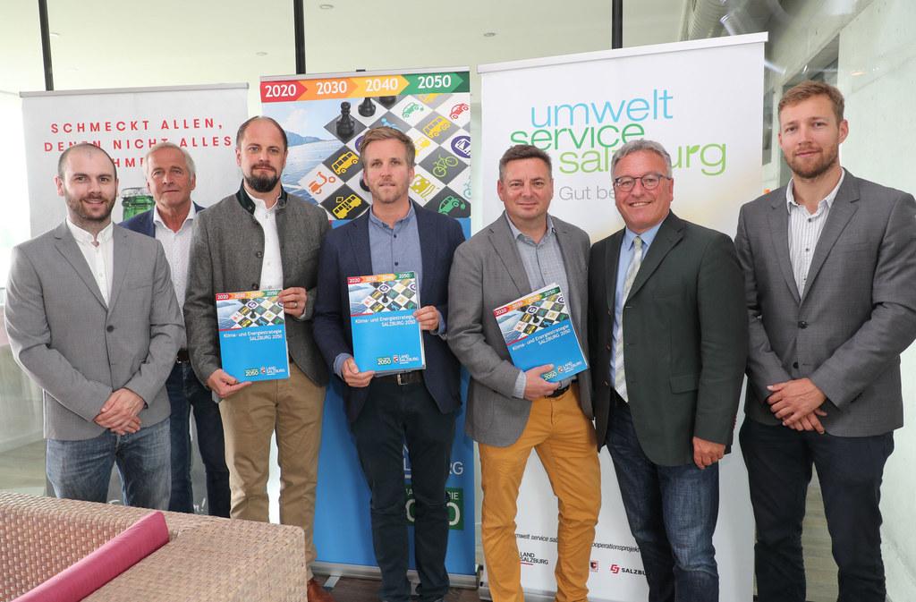 Verbündete für den Klimaschutz: LH-Stv. Heinrich Schellhorn mit den neuen Projek..