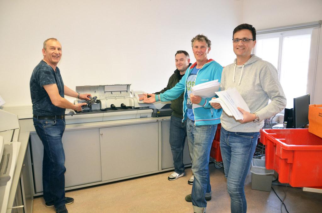 Bernhard Allehoff, Christian Pirchl, Alexander Macho und Thomas Prexl (von links..